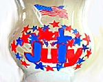 Hurricane Globe With Patriotic Theme